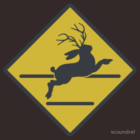 http://www.redbubble.com/people/scoundrel/works/9839804-jackalope-crossing