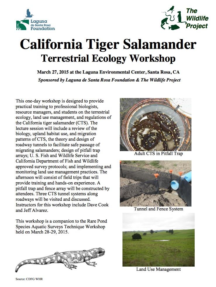 California Tiger Salamander Terrestrial Ecology Workshop